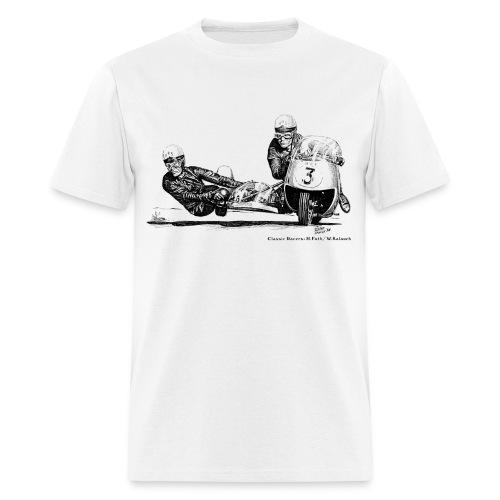 Sidecar racers - Helmut Fath & Wolfgang Kalauch - Men's T-Shirt