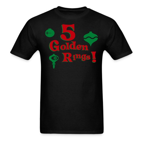 5 Golden Rings! - Men's T-Shirt