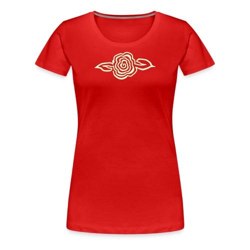 Spiral Flower - Glow in the Dark - Women's Premium T-Shirt