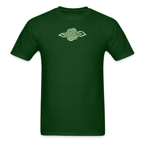 Spiral Flower - Glow in the Dark - Men's T-Shirt