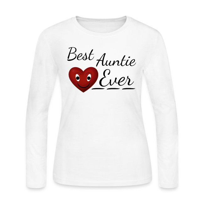 Awesome Quotes Best Auntie Ever BAE Womens Long Sleeve Jersey T Gorgeous Ever Awesome Quotes