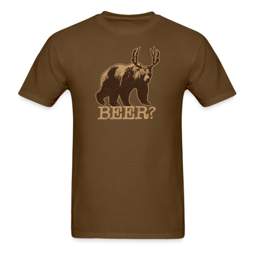 Bear + Deer = BEER - Tee - Brown - Men's T-Shirt