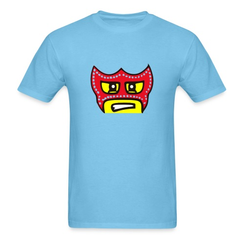 Brick Wrestler Face (Mens) - Men's T-Shirt