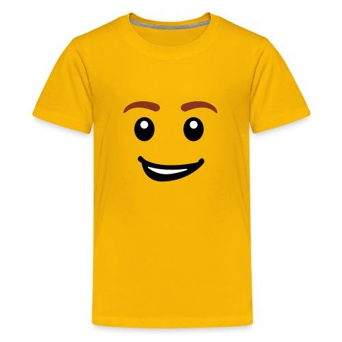 Brick Man Face Smiling (Kids) - Kids' Premium T-Shirt