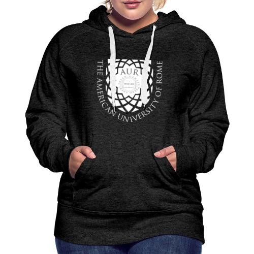 Women's Premium Hoodie - in grey with white current logo. - Women's Premium Hoodie