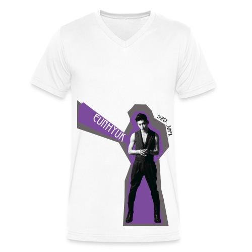 SJ- Eunhyuk Shadow V-Neck - Men's V-Neck T-Shirt by Canvas