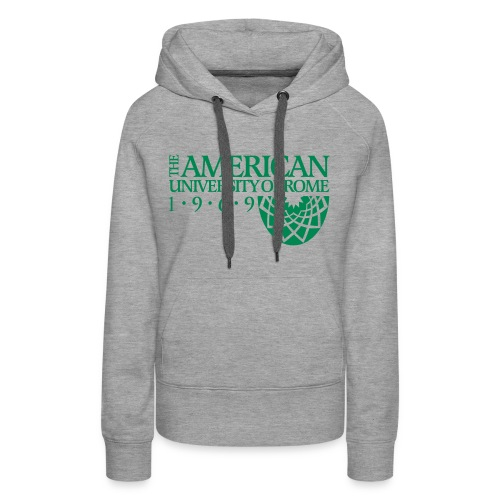 Women's Vintage Premium Hoodie - in light grey with the vintage logo. - Women's Premium Hoodie