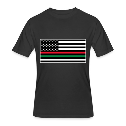 Men's 50/50 T-Shirt - resist,protest,peace,matter,freedom,flag,equality,american flag,african american,Lives,Black Lives Matter,Black,American