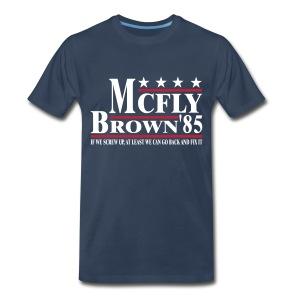 Mcfly/Brown - Men's Premium T-Shirt