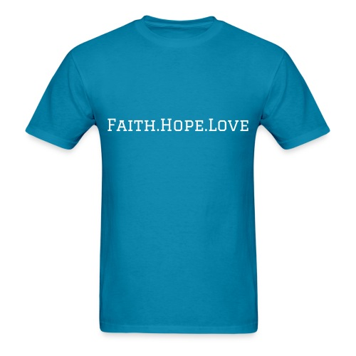 Faith.Hope.Love - Men's T-Shirt - Men's T-Shirt
