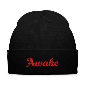 Awake Beanie - Knit Cap with Cuff Print