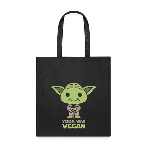 YODA Was A Vegan 100% Eco-Canvas Bag - Tote Bag