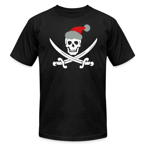 Skull with Santa Hat - Men's Fine Jersey T-Shirt