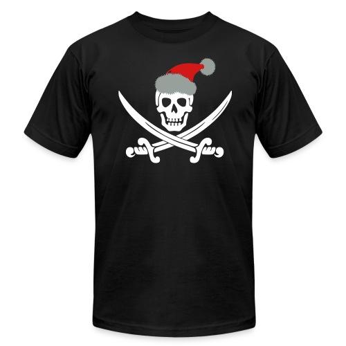Skull with Santa Hat - Men's  Jersey T-Shirt
