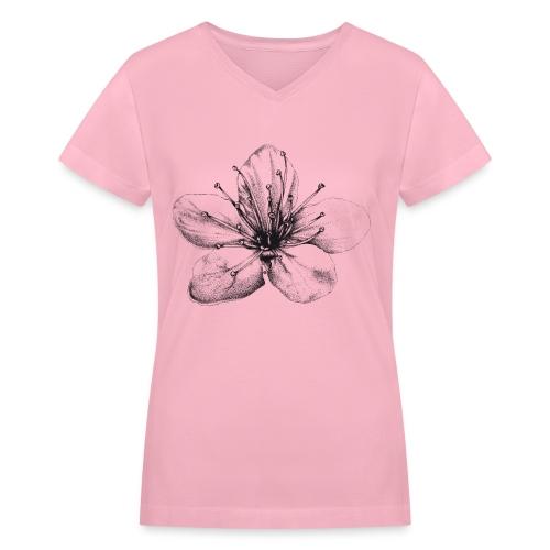 Cherry Blossom - Women's V-Neck T-Shirt