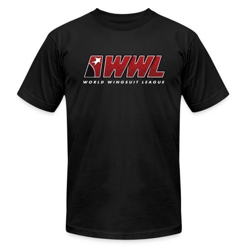 American Apparel - Black FRONT PRINT - MEN - Men's Fine Jersey T-Shirt