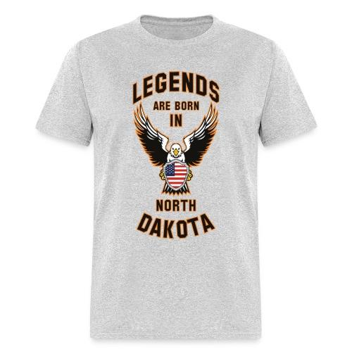 Legends are born in North Dakota - Men's T-Shirt