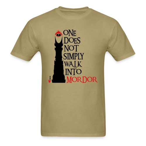 LOTR One does not simply walk into Mordor T-Shirt ...