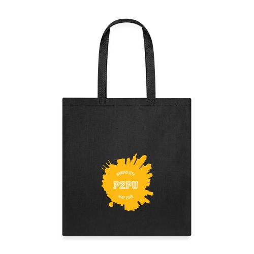 Striped tote with yellow Kansas City logo - Tote Bag