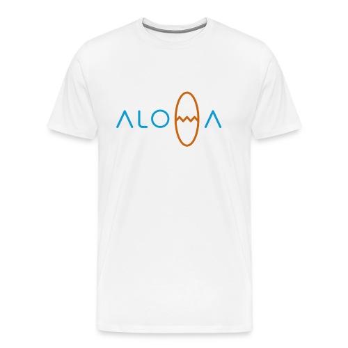 Surfin Aloha / White - Men's Premium T-Shirt