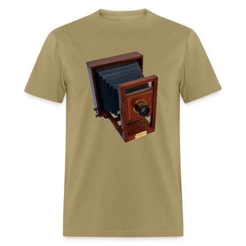 Vintage 19th Century Antique Wooden Glass Plate Camera - Men's T-Shirt