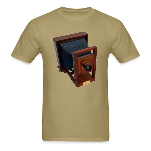 Vintage 19th Century Antique Wooden Glass Plate Camera - Men's T-Shirt