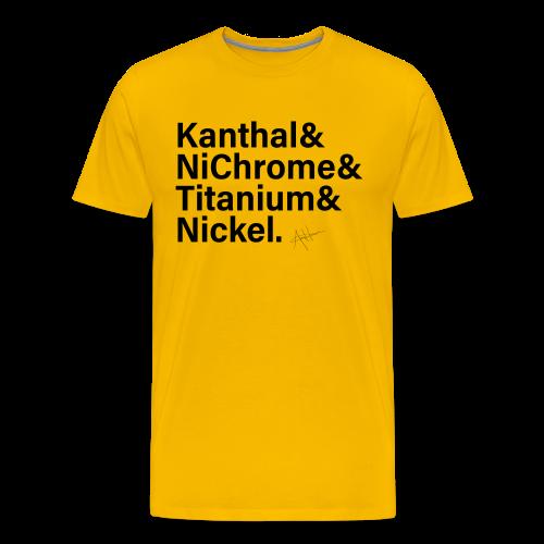 Vape WireList Shirt (black) - Men's Premium T-Shirt