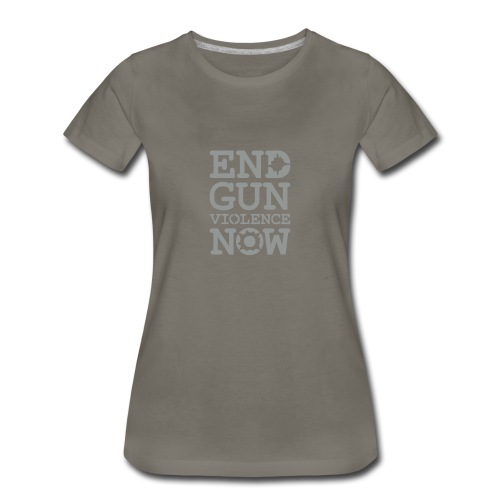* END GUN VIOLENCE NOW !  * (velveteen.print)  - Women's Premium T-Shirt