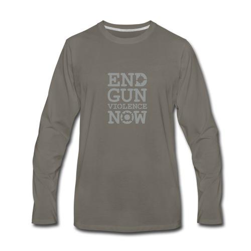 * END GUN VIOLENCE NOW !  * (velveteen.print)  - T-shirt Premium à manches longues pour hommes