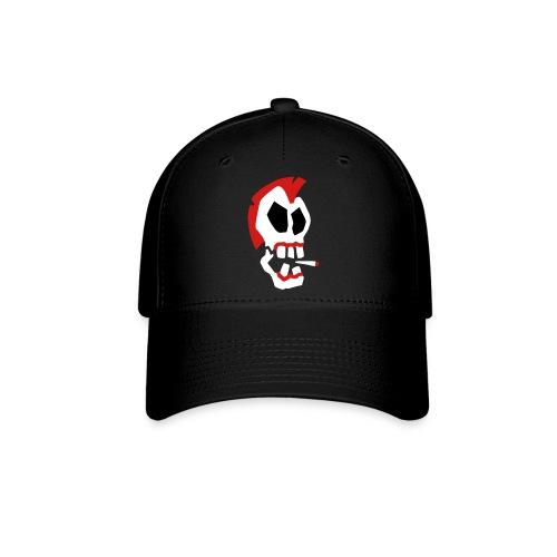 Smoking Skull Baseball Cap - Baseball Cap