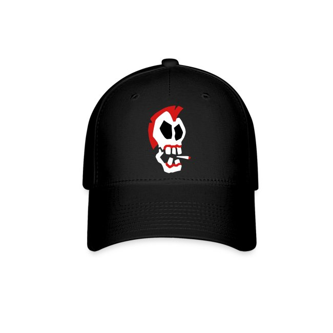 Smoking Skull Baseball Cap