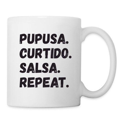 Pupusa Curtido Salsa Repeat Mug - Coffee/Tea Mug