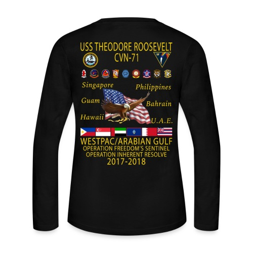 USS THEODORE ROOSEVELT 2017-18 WOMENS LONG SLEEVE CRUISE SHIRT - Women's Long Sleeve Jersey T-Shirt