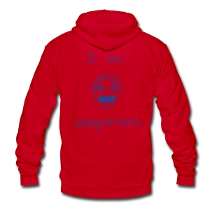 Unimportant Zipper Hoodie (boys)  - Unisex Fleece Zip Hoodie by American Apparel