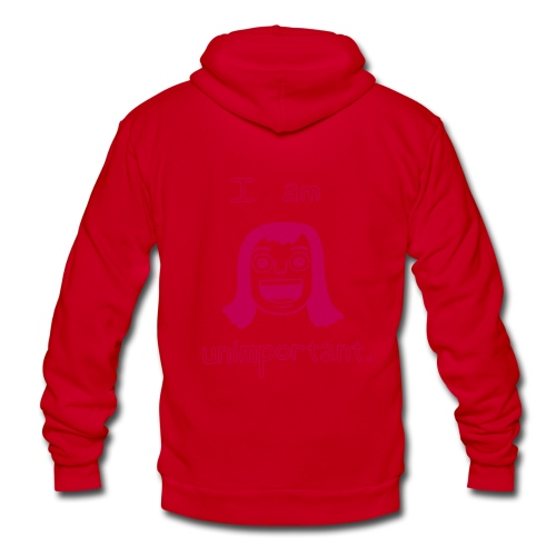 Unimportant Zipper Hoodie (girls)  - Unisex Fleece Zip Hoodie