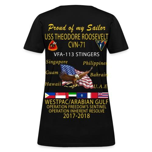 VFA-113 w/ USS THEODORE ROOSEVELT 2017-18 WOMENS CRUISE SHIRT - FAMILY - Women's T-Shirt