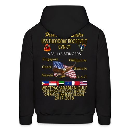 VFA-113 w/ USS THEODORE ROOSEVELT 2017-18 CRUISE HOODIE - FAMILY - Men's Hoodie
