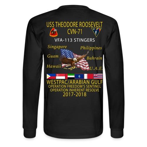 VFA-113 w/ USS THEODORE ROOSEVELT 2017-18 LONG SLEEVE CRUISE SHIRT - FAMILY - Men's Long Sleeve T-Shirt