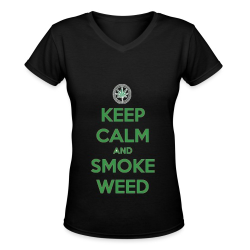 Smoke Weed - Women's V-Neck T-Shirt