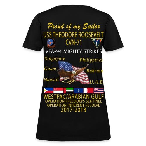 VFA-94 w/ USS THEODORE ROOSEVELT 2017-18 WOMENS CRUISE SHIRT - FAMILY - Women's T-Shirt