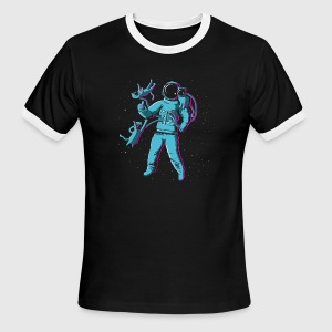 Intergalactic Cat Fancy Enthusiast T-Shirts - Men's Ringer T-Shirt