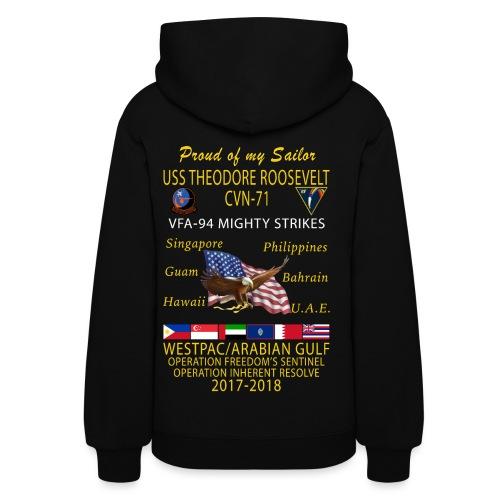 VFA-94 w/ USS THEODORE ROOSEVELT 2017-18 WOMENS CRUISE HOODIE - FAMILY - Women's Hoodie
