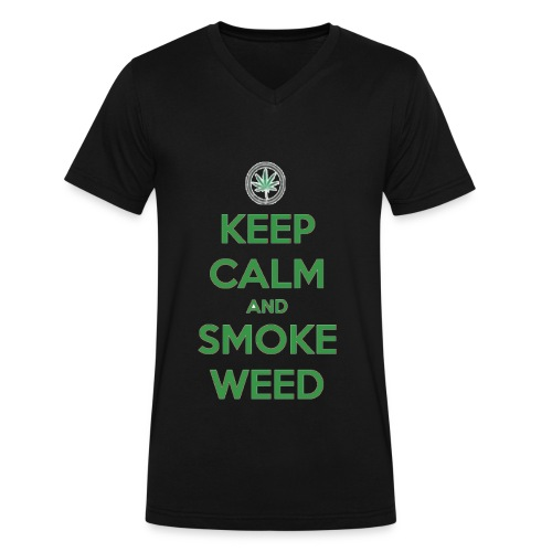Smoke Weed - Men's V-Neck T-Shirt by Canvas