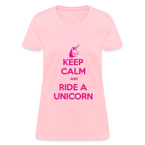 Neon Pink KC T - Women's T-Shirt
