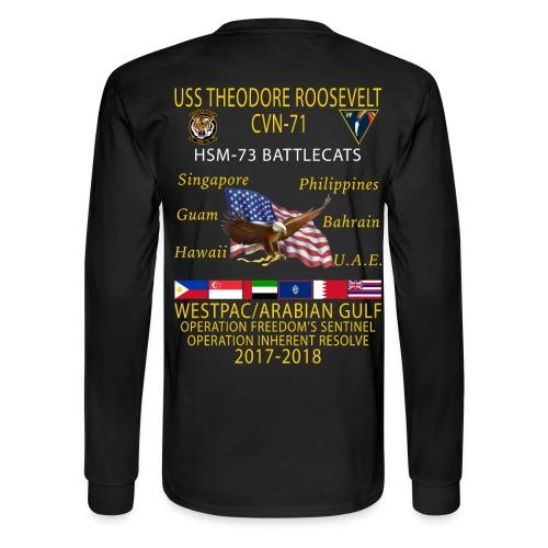 HSM-73 w/ USS THEODORE ROOSEVELT 2017-18 CRUISE LONG SLEEVE - Men's Long Sleeve T-Shirt