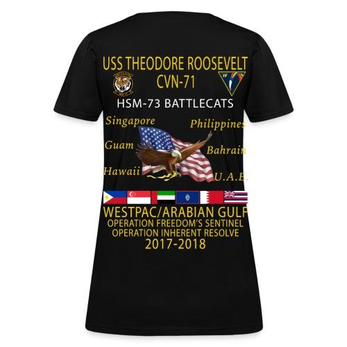 HSM-73 w/ USS THEODORE ROOSEVELT 2017-18 WOMENS CRUISE SHIRT - Women's T-Shirt