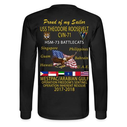 HSM-73 w/ USS THEODORE ROOSEVELT 2017-18 CRUISE LONG SLEEVE - FAMILY - Men's Long Sleeve T-Shirt