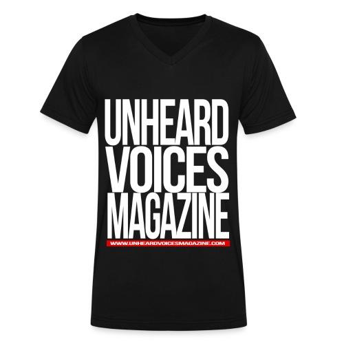 Unheard Voices Magazine Men's V-Neck - Men's V-Neck T-Shirt by Canvas