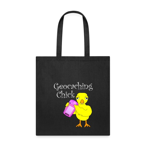 Geocaching Chick White Text - Tote Bag