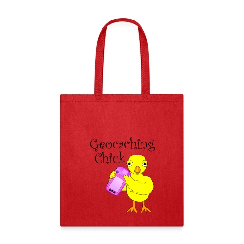 Geocaching Chick Text  - Tote Bag